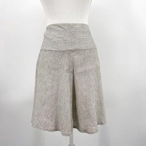 CAbi Ivory Black Luna Linen A Line Skirt Style 829